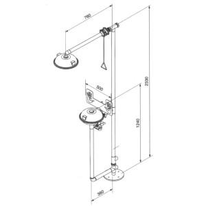 Kombinacija sigurnosni tuš i ispiralica SE 11