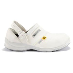 Zaštitna polu-cipela s remenom bijela HELSINKI S1